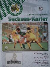 Program 1997/98 Fc Saxony Leipzig - Rw Erfurt