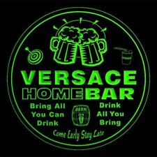 4x ccq46861-g VERSACE Home Bar Ale Beer Mug 3D Etched Drink Coasters