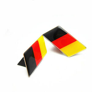 1x Germany Flag Car Resin Front Grille Grill Emblem Badge Sticker For Volkswagen