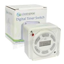 Lowenergie Digital Water Immersion Heater Timer, 7 day programmable, 16A switch