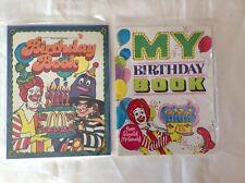 Lot of 2, Ronald McDonald Birthday Books