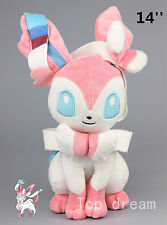 "Pokemon Plush Sylveon Fairy Eevee Soft Toy Stuffed Animal Doll Teddy 14"" Gift"