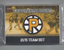 2014-15 Providence Bruins (AHL) complete 28 card team set