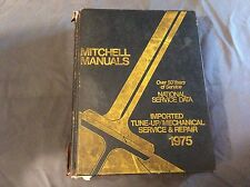 Mitchell Manuals National Service Data Imported Service and Repair 1975