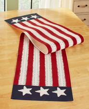 Star Spangled AmericanTable Runner USA Linen Country 4th of July Kitchen Decor