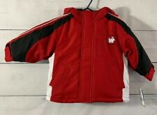 Carters Toddler Boys Red White Black Winter Coat Attached...