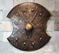Hand-Made Iron European Medieval Knight TROY Shield Handcrafted Metal Iron