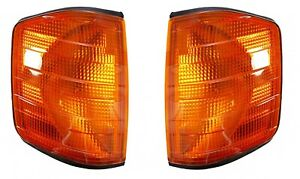 Mercedes Benz W201/190E 1982-1993  Corner Lamp Turn Signal Amber Left+Right Depo