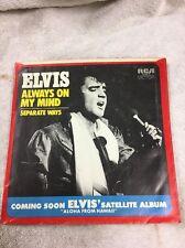 Original 45 Record (Sleeve )Elvis Presley RCA ( Always On My Mind )1972