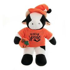 "Halloween Floppy Cow 12"" Too cute to Spook Plush Stuffed Animal"