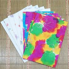 10 Sheets Mulberry Paper Flowers Pressed Batik Office Supplies Card Craft DIY