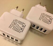EF Ladegerät 2x 4er USB Stecker Netzstecker Netzteil Haus Samsung iPhone 4USB U