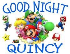"SUPER MARIO GROUP Personalized PILLOWCASE ""Good Night"" Any NAME Super Soft"