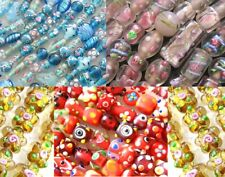 1 lot de perles en verre façon MURANO lampwork fait main au choix