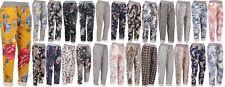 New Italian Ladies Floral Print Summer Beach Cotton Trouser Jogger Size 10-16
