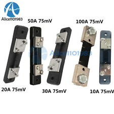 75mv Dc 10203050100a Current Shunt Resistor For Amp Ammeter Panel Meter Fl 2