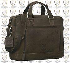 Leather Laptop Bag Designer Briefcase Shoulder Cross Body Work Messenger Case