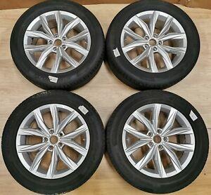 A+ SET 18x7 ET43 GENUINE VW Tiguan 5NA601025B Kingston Alloys + Hankook + TPMS