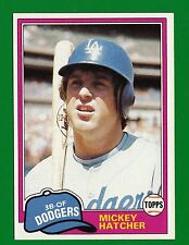 1981 Topps Mickey Hatcher #289 NM-MT Dodgers