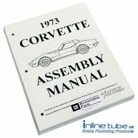 1973 Chevrolet Corvette  Factory Assembly Rebuild Instruction Manual Book