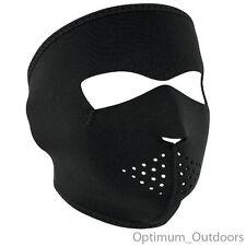 Black Neoprene Full Face Mask Skiing Snowboarding Cycling Motor Bike Motorcycle