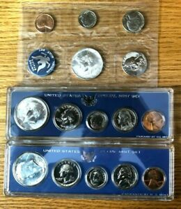 Three United States Special Mint Sets 1965 1966 1967 Lot (No envelope or boxes)