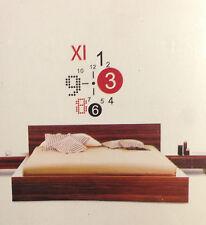 diseño RELOJ DE PARED SALÓN 50x70cm Pegatina Decoración XXL 3d elegante NUEVO