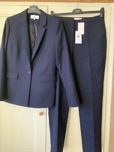 Reiss Faulkner Navy Womens Suit Size 12. Slim Fit