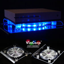 USB Design Cooling Fan Blue LED 19cm Stand Xbox One S x 360 Scorpio Accessories