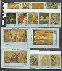Guyana 1995 Rubens art paintings set+3s/s MNH