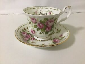 """Royal Albert Flower Of The Month Duo - """" JUNE"""" ROSES ,Mint Condition"""