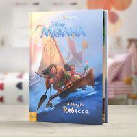 Personalised Disney Moana Story Book Kids Birthday Christmas Gift Bedtime Story