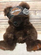 "NWT Official Harley Davidson Plush 17"" Bear with Bandana HTF Cavanagh"