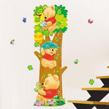 Winnie The Pooh Bedroom Nursery Child's Height Chart Growth Measure Wall Sticker