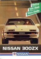 Nissan 300ZX Swiss market sales brochure 1986