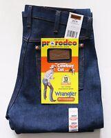 New Wrangler Cowboy Cut 13MWZ Original Fit Jeans Rigid Indigo Men's Sizes