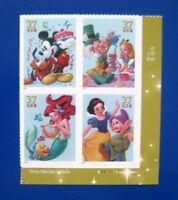 Sc # 3912-3915 ~ Plate # Block ~ 37 cent the Art of Disney:Celebration (cd10)