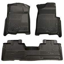 HUSKY WeatherBeater Front Rear Floor Mats for 09-14 FORD F150 Extended Cab 98341