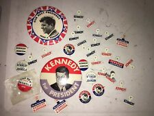 Campaign Pin Pinback Button LOT Political Badge Election JFK