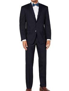 Marc New York Mens Suits Blue Size 44 Short 37X30 Stretch 2 Piece $395 177