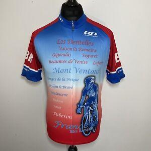 Louis Garneau Les Dentelles Mont Ventoux France Cycling Jersey Short Sleeve XL