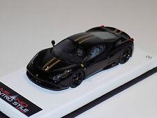 1/43 MR Ferrari 458 Speciale Gloss Black-Gold Stripe Black wheels Lmtd 5 pcs
