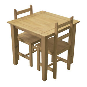 Corona Dining Set 2 Seater Chairs and Table Solid Pine Wood Dining Furniture New