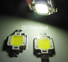 2pc 10Watt 10W high power led White 30000-35000k 900mA 9-12V LED Chip light bead