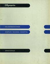 Ersatzteilkatalog Olympia Saldiermaschinen Schiebe/Schüttel Rechenmaschine *298