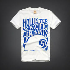 GENUINE HOLLISTER MENS PC HIGHWAY TSHIRT MUSCLE BLUE WHITE S M L BNWT