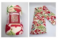 Holiday Time Plush Throw Christmas Ornaments 50 x 60 inches Blanket