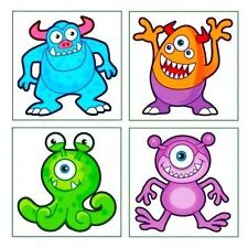 Monster Tattoos, 36 supplied - Great Party Loot Bag Fillers