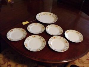7 Piece Hand Painted Nippon Cake Set, REDUCED