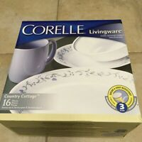 New Classic 16-Piece Country Cottage Livingware Set by Corelle